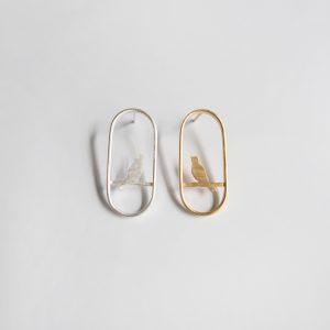 Nanna Doll Schmuck The Ovals Ohrringe mit Vögelchen